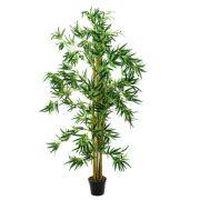 Bambou artificiel HIROKO, troncs naturels, vert, 210cm