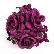Anneau de bougie en tissu INGA, rose, hortensia, violet, Ø10cm