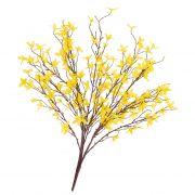 Buisson de forsythia artificiel LOVIS, avec fleurs, jaune, 60cm