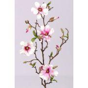 Magnolia artificiel MARGA, rose-fuchsia, 80cm, Ø6-8cm