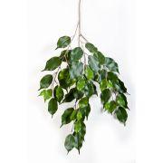 Branche de ficus synthétique SUNIL, diff. inflammable, vert, 75cm