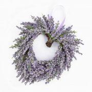 Cœur de lavande artificiel SENJA, violet, Ø20cm
