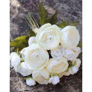Bouquet de renoncules en tissu TONIE, crème, 20cm, Ø20cm