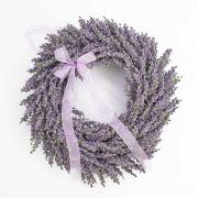 Couronne de lavande artificielle YLVIE, violet, Ø40cm