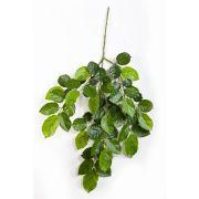 Branche de hêtre artificielle avec 60 feuilles, vert, 60cm, ignifuge