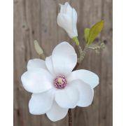 Magnolia en tissu FFEMI, blanc, 35cm, Ø12cm
