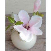 Fleur de magnolia en tissu FEMI, rose pastel, 20cm, Ø17cm