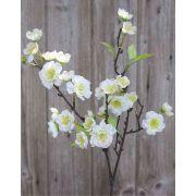 Branche de fleurs de cerisier artificielle SOEY, crème-blanc, 45cm