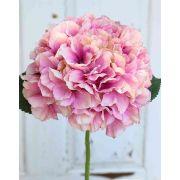 Hortensia artificiel MALENA, rose, 40cm, Ø19cm