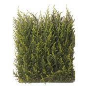 Plaque de cyprès artificielle NEOH, anti-uv, vert, 25x25cm