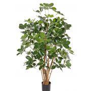 Faux schefflera OSMAN, troncs naturels, vert, 120cm
