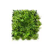 Tapis de schefflera et graminée artificiel ENZIO, crossdoor, vert, 50x50cm