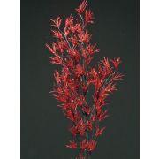Branche de mélèze artificielle FLEKY, paillettes, rouge, 75cm