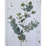 Branche d'eucalyptus artificielle INGOLF, vert-gris, 55cm