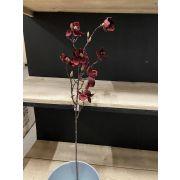 Magnolia artificiel AYDIN, rouge-doré, 85cm