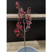Branche artificielle de symphorine STARIAN avec fruits, congelée, rouge, 50cm